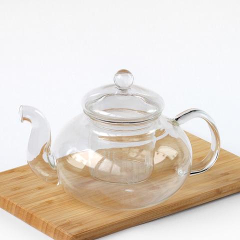 Стеклянный чайник с колбой