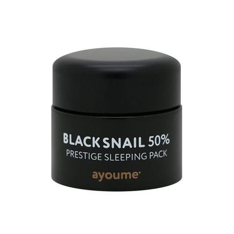 AYOUME Black Snail Маска ночная для лица с муцином черной улитки AYOUME BLACK SNAIL PRESTIGE SLEEPING PACK