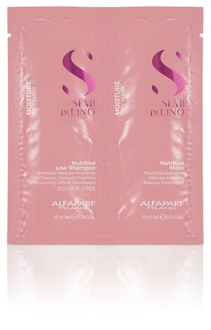 Alfaparf Milano Пробник (шампунь + маска) для сухих волос Semi Di Lino Moisture
