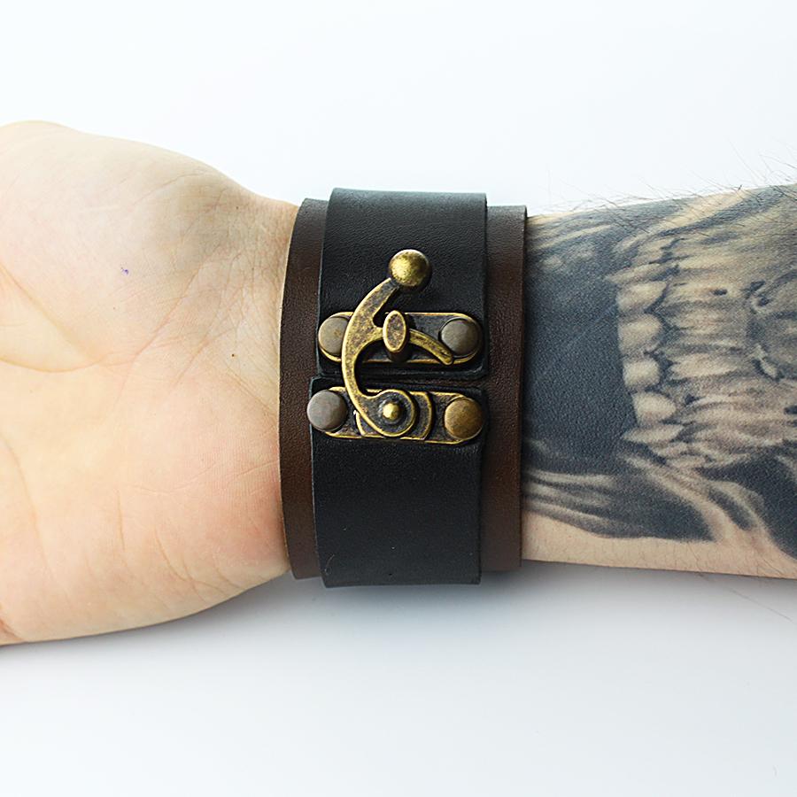 Кожаный браслет TRONIN N-12BR