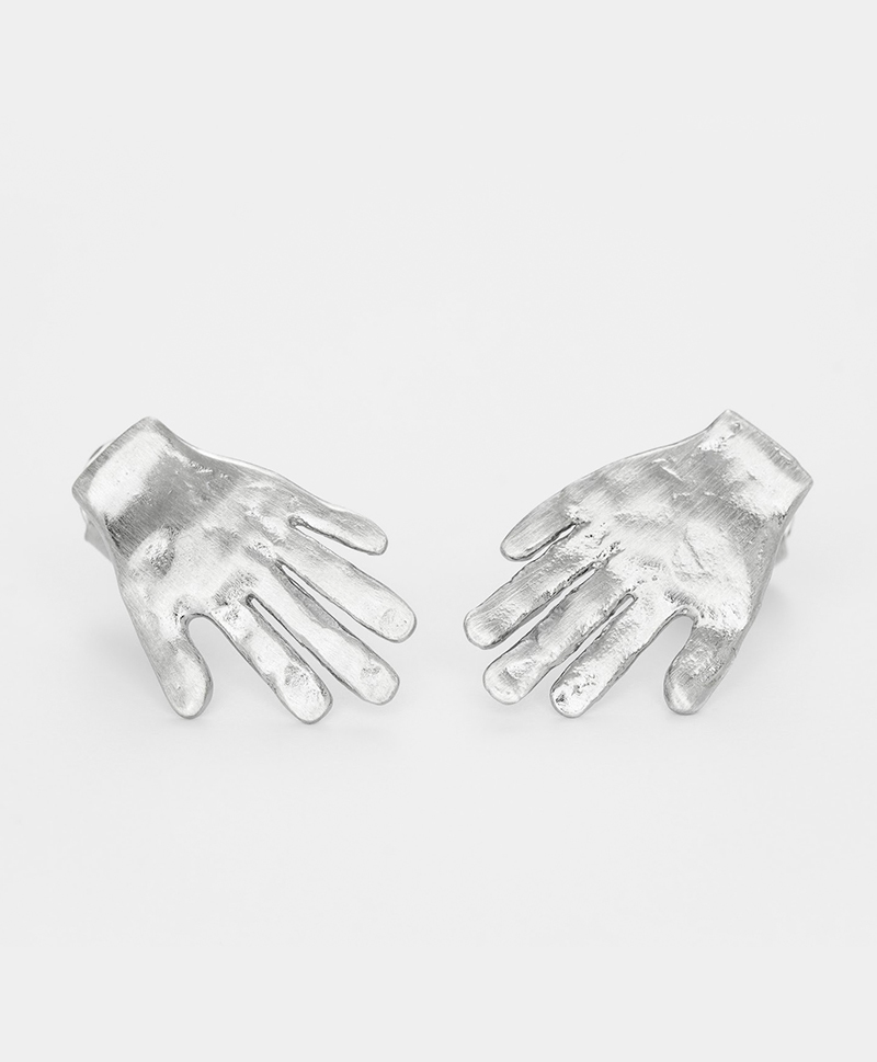 Серьги A SACRED HAND silver