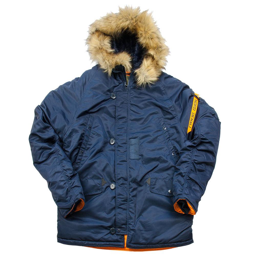 Куртка Аляска  укороченная Husky Short Denali (синяя - r.blue/orange)