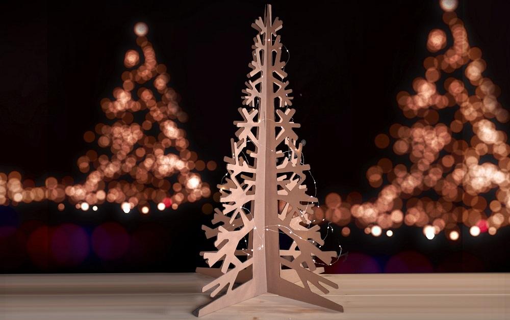Подарочная елка из картона купить