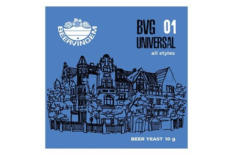 Дрожжи пивные Beervingem Universal BVG-01, 10 г