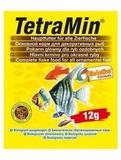 TetraMin Основной корм для всех видов тропических рыб (хлопья) 12 г. (766402/159501)