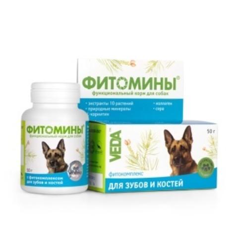 ФИТОМИНЫ с фитокомплексом для зубов и костей для собак 50 г.