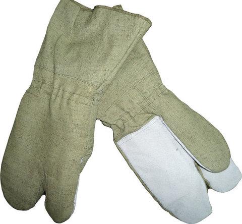 Перчатки трехпалые