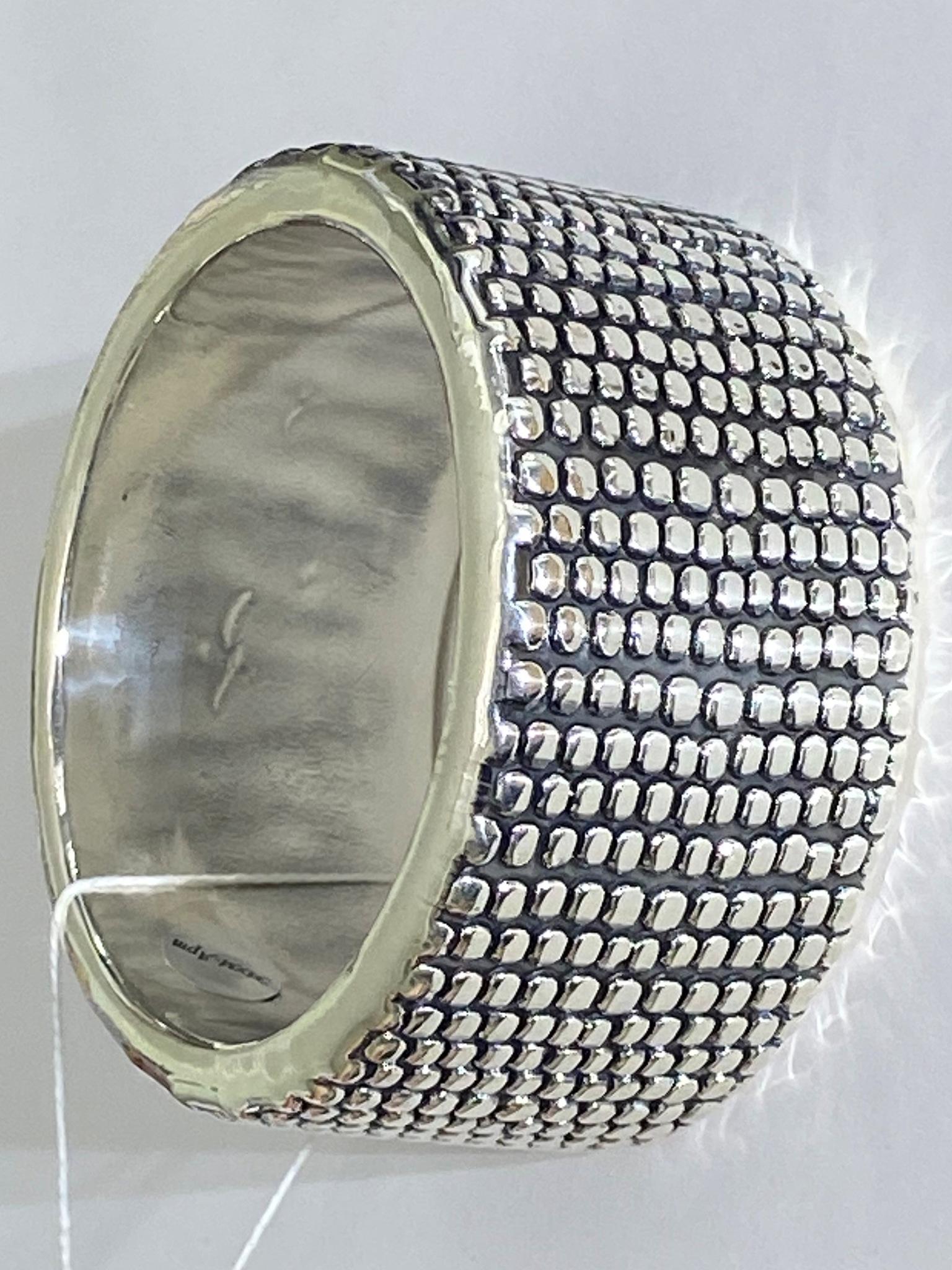 Просо (браслет из серебра)