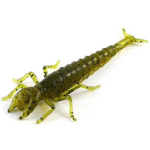 Силиконовая приманка FishUp Diving Bug цвет № 074 - Green Pumpkin Seed