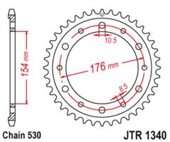 Звезда задняя JT R 1340.43 ZBK Honda VFR 800