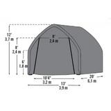 Гараж тентовый ShelterLogic 3,9х6,1х3,6 м
