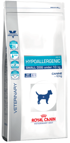 Royal Canin Hypoallergenic HSD 24 Small Dog under 10kg для собак мелких пород с пищевой аллергией