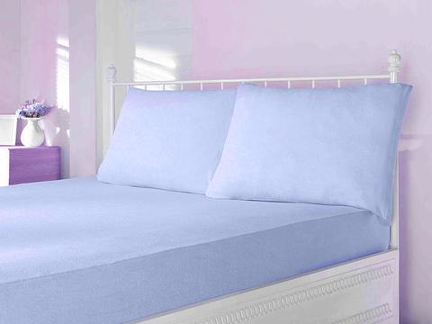 Простынь на резинке трикотажная голубая 220х240  PENYE ПЭНЕ  Maison Dor Турция