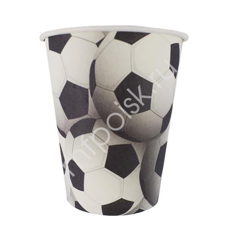F Стаканы бумажные Футбол 250мл 6шт