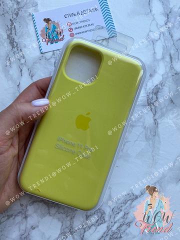 Чехол iPhone 11 Silicone Case /flash/ лимонный 1:1
