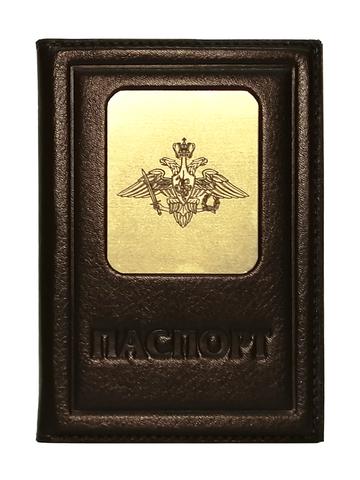 Обложка на паспорт | Герб вооруженных сил РФ | Коричневый