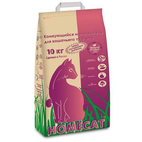 Homecat Наполнитель для кошачьих туалетов комкующийся