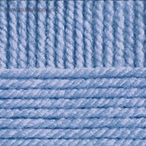 Пряжа Популярная (Пехорка) цвет Голубая пролеска 520.