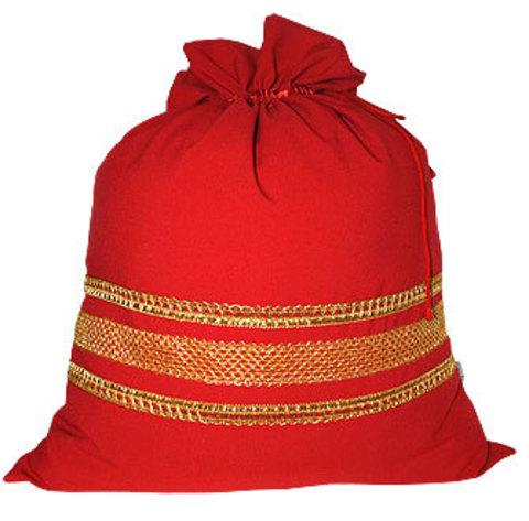Большой красный мешок с тесьмой