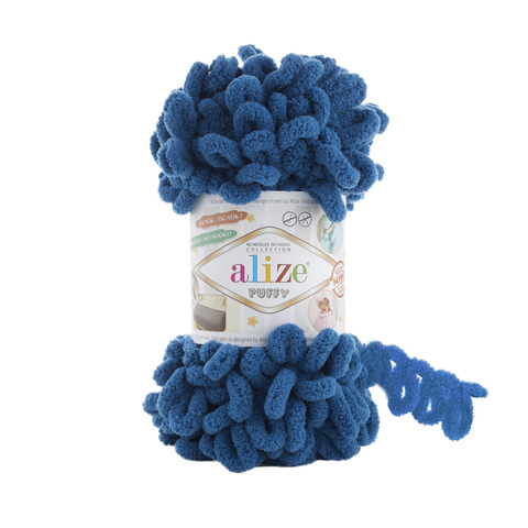 Купить Пряжа Alize Puffy Код цвета 646 Морская волна | Интернет-магазин пряжи «Пряха»