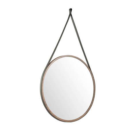 Круглое зеркало с ореховой рамой CPMR27-V36-NOGAL