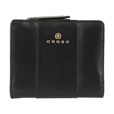 Женский кожаный компактный кошелёк 11х9,5х2см CROSS Kelly Wall Black AC928083_1-1