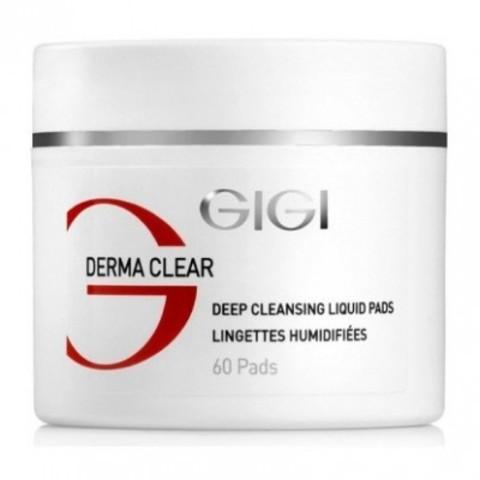 GIGI Derma Clear: Ватные диски для очистки жирной и проблемной кожи лица (Deep Cleansing Liquid Pads), 60шт
