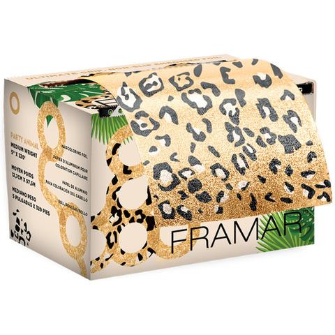 Party Animal - Embossed Roll Framar   Фольга в рулоне с тиснением «Зов джунглей» (98м х 12,5см). Лимитированная коллекция.