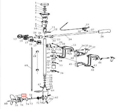 Втулка корпуса редуктора для лодочного мотора T3,5 Sea-PRO
