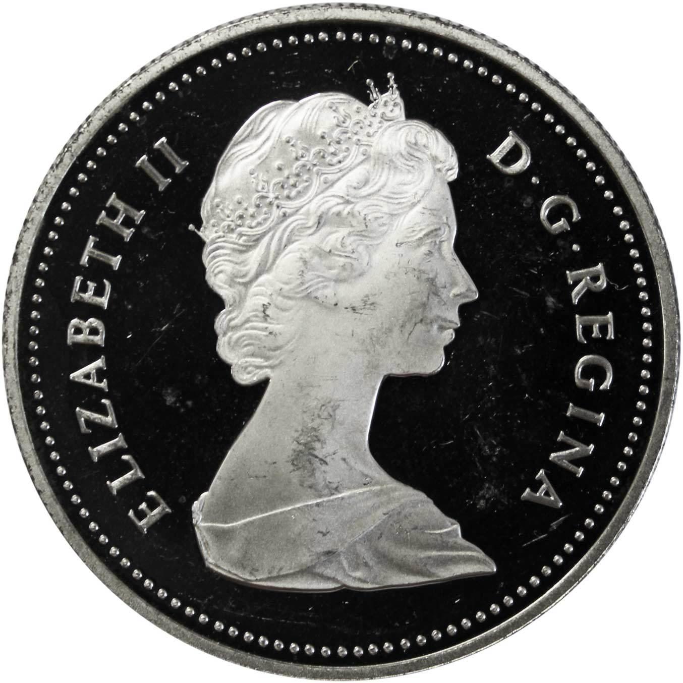 1 доллар. 150 лет городу Торонто. Канада. 1984 г. PROOF Серебро