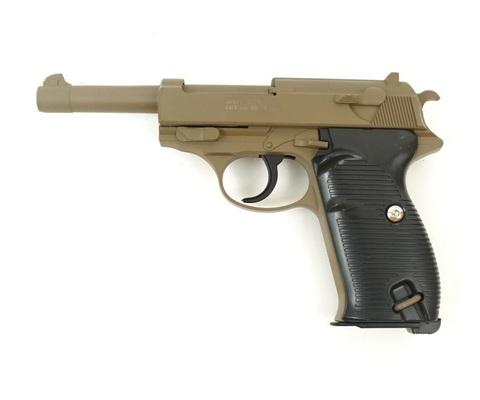 Страйкбольный пистолет Galaxy G.21D  Walther P-38 металлический, пружинный
