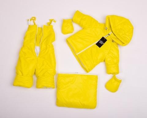 Демисезонный комбинезон тройка для малышей 0-2 года Look желтый