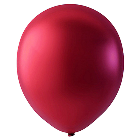 Шар Вишнево-красный Металлик, 30 см