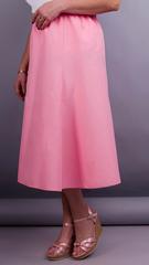 Тері. Габардинова спідниця плюс сайз. Рожевий.