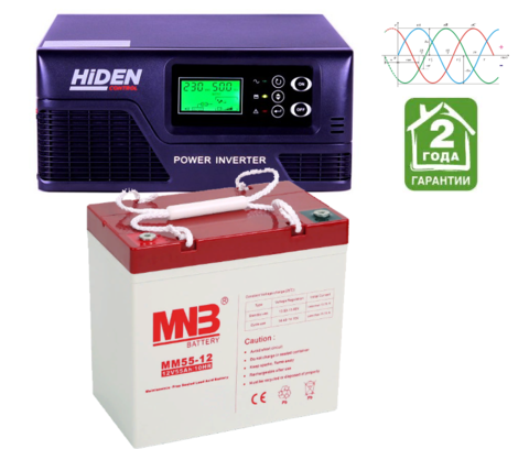 Комплект ИБП HPS20-0312-АКБ MM55 (12в, 300Вт)