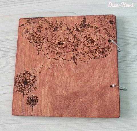 Книга пожеланий из дерева с гравировкой имен