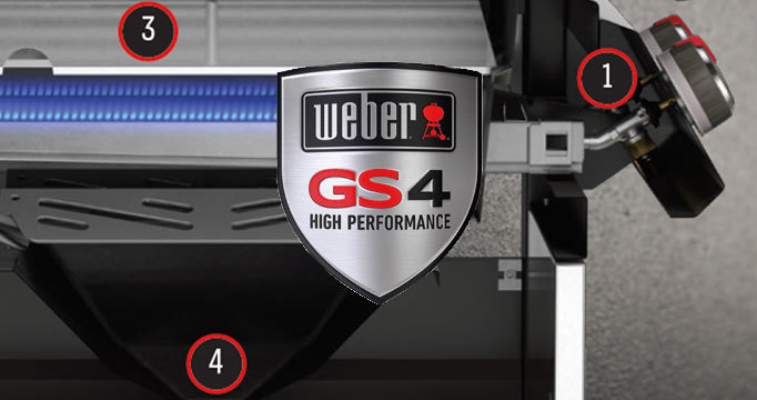 Гриль газовый GENESIS  II E-410 GBS, черный