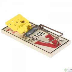 Механическая деревянная мышеловка Victor M032, 4шт
