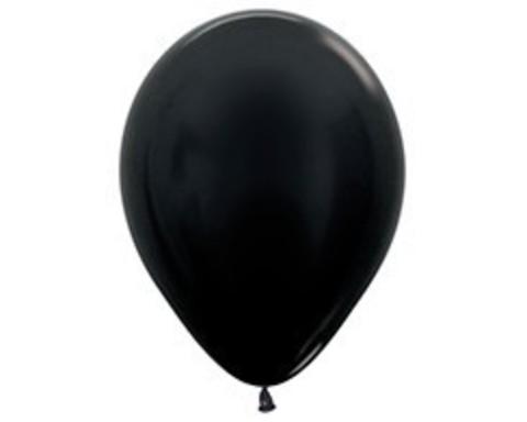 Шарики черные (металлик)
