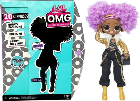 MGA Entertainment Кукла LOL Surprise O.M.G.- 24K DJ Fashion Doll