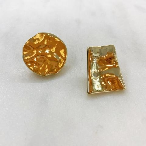 Серьги-кластеры Асимметрия (золотистый) ш925