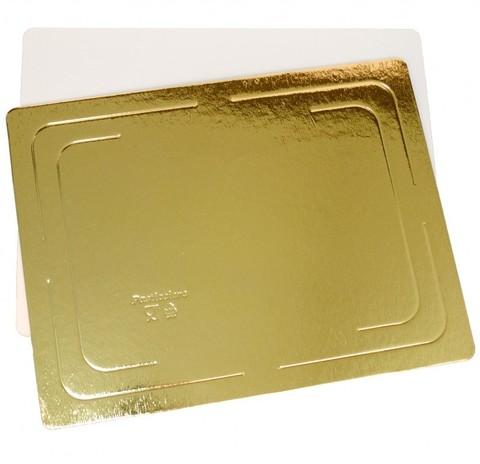 Подложка прямоугольная односторонняя, 2,5 мм. 30х40 см (золото)