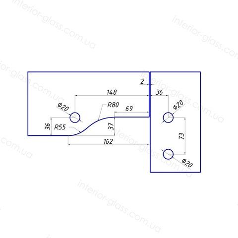 Фитинг угловой с осью HDL-140