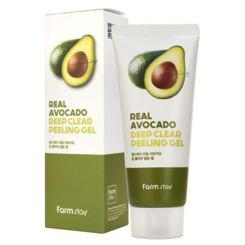 Гель отшелушивающий с экстрактом авокадо FarmStay Real Avocado Deep Clear Peeling Gel