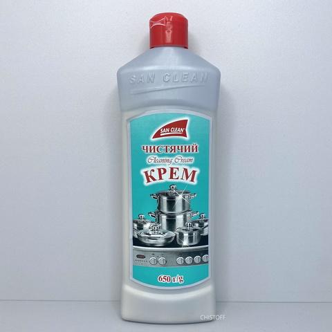 Чистящий крем для изделий из нержавеющей стали San Clean 650 мл