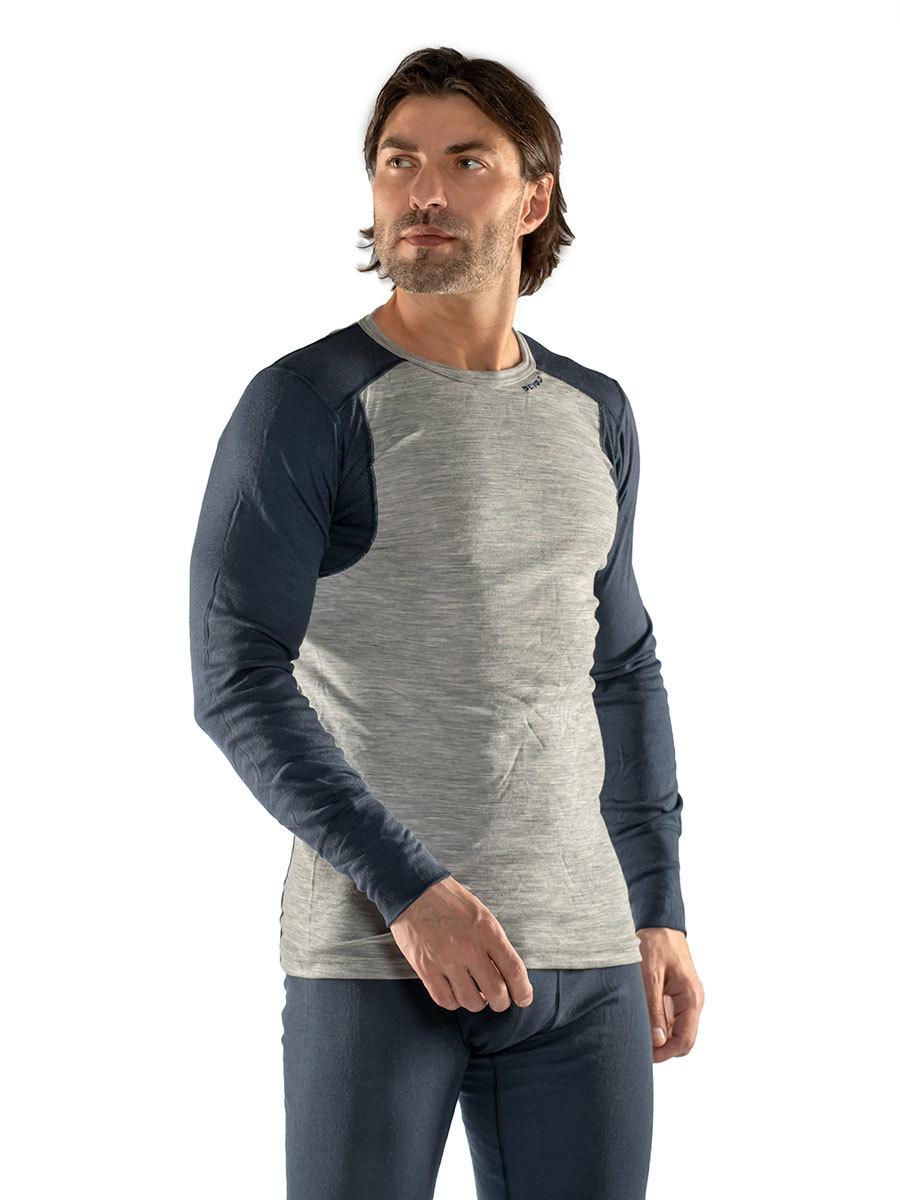 Devold термобелье футболка Hiking Man Shirt Grey Melange/Night