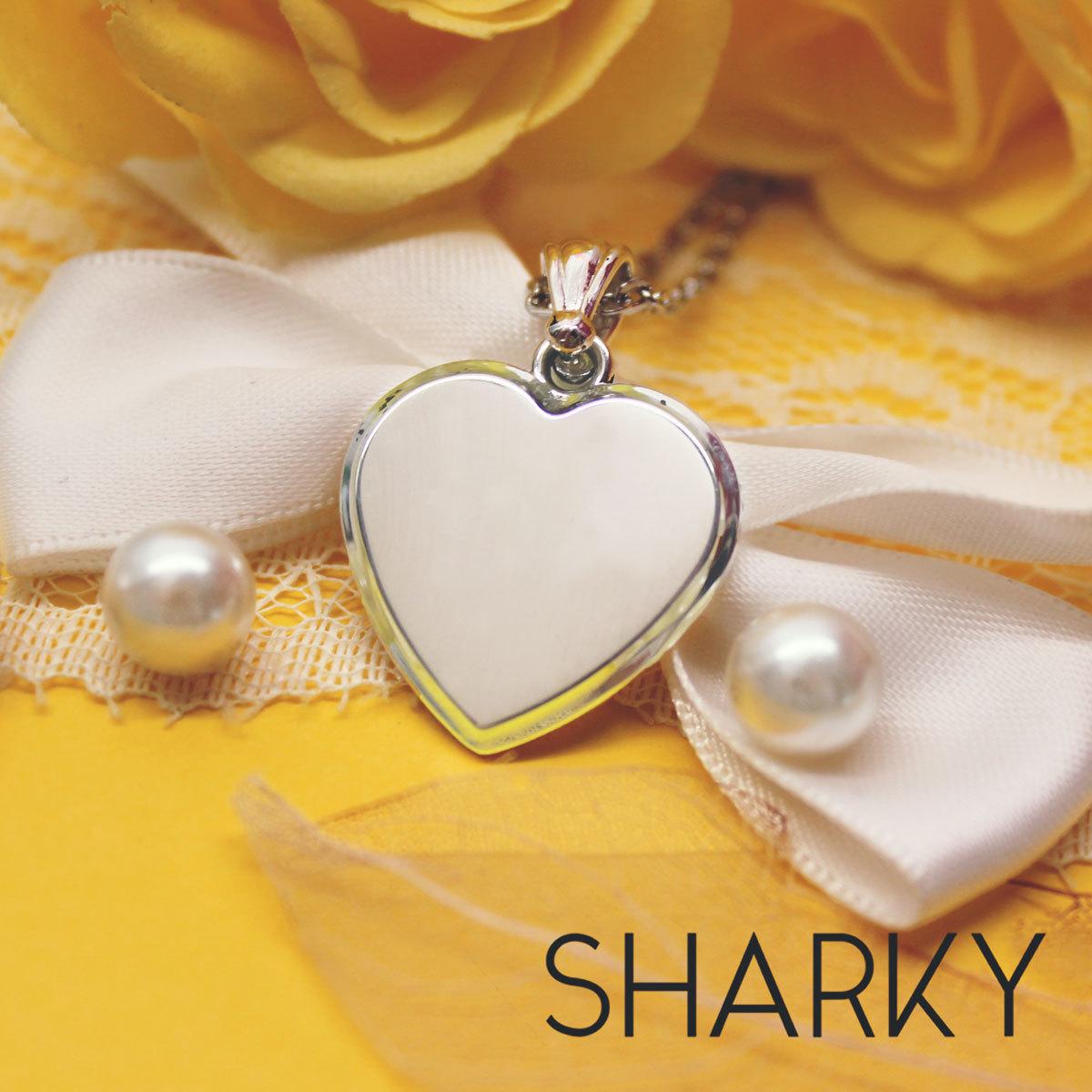 Серебряная подвеска Сердце с именем с гравировкой на заказ