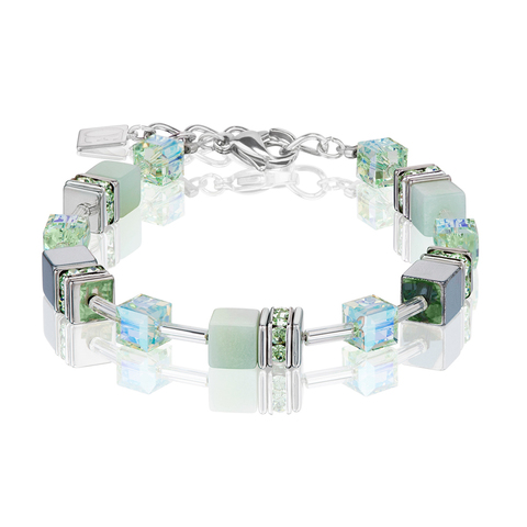 Браслет Coeur de Lion 4017/30-0520 цвет зелёный, прозрачный