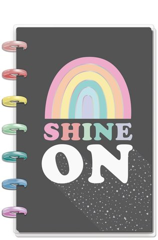 Блокнот в точку - Happy Planner Mini Notebook -60 л -Shine On