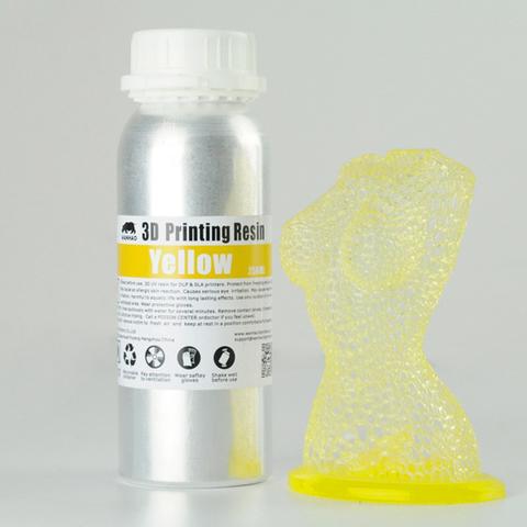 Фотополимер Wanhao Standard Resin, жёлтый (250 мл)